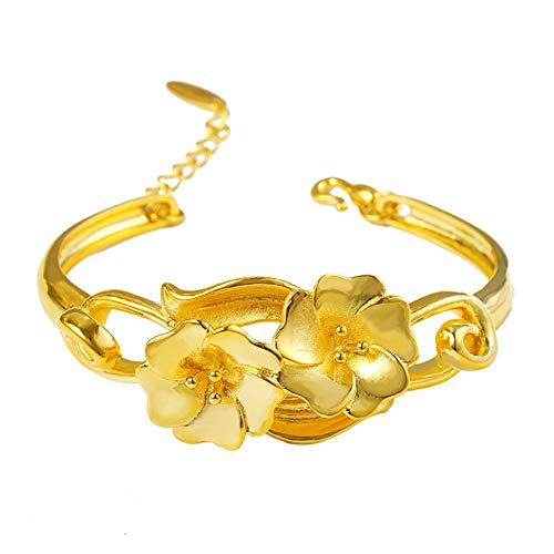 ZSML 24 Karat Vergoldete Armbänder Mit Verstellbarem Armband Für Damen, Geschenk Zum Muttertagsgeschenk, 12,7 cm