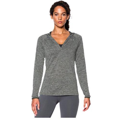 Hooded Long Sleeve Henley (Under Armour Women's UA Tech Long Sleeve Hooded Henley Small DOWNTOWN GREEN)