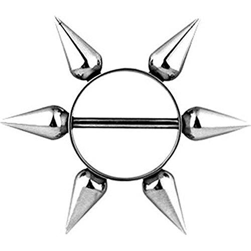 beyoutifulthings STACHEL-RING Brustwarzen-piercing Intim-piercing Brust-piercing Nippel-piercing EDELSTAHL SILBER 1,6mm 16mm