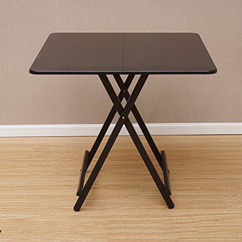 Klapptisch Haushaltstisch Esstisch Einfacher 4-Personen Tisch Kleiner Tisch Tragbarer Platzierter Tisch im Freien (Color : Black) -