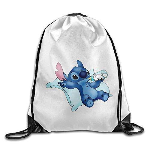 Setyserytu Sporttasche mit Kordelzug, Sportrucksack, Reiserucksack, Lilo Stitch Cute Baby Design Funny Logo Gym Tasche Drawstring Backpack -