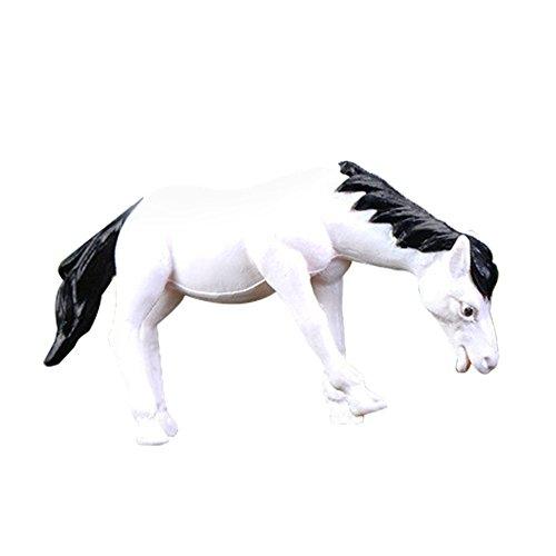 ten Märchengarten Pferd Form DIY Harz Fairy Garden Craft Dekoration für Dollhouse Bonsai Handwerk Gartenlandschaft (Weiß) ()
