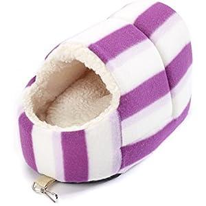 Little Friends Nagetier-Spielzeug/Versteck, Slipper, rosa Streifen