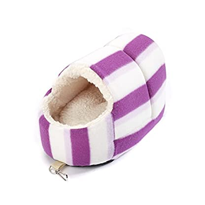 Little Friends Snuggle Up Rat Slipper Toy, Pink Hoops 1