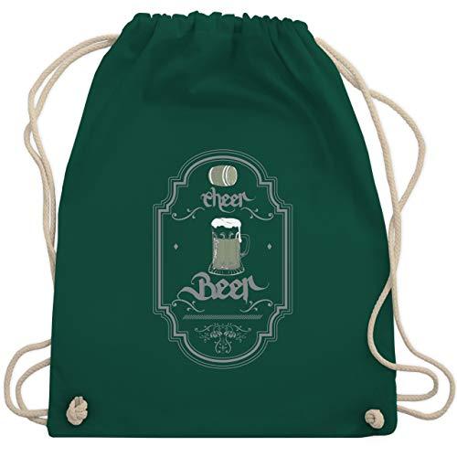 Statement Shirts - Cheer Beer - Unisize - Dunkelgrün - WM110 - Turnbeutel & Gym Bag