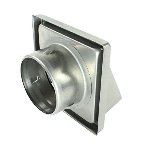 spares2go Mages mur/plafond En Acier Inoxydable Extracteur d'air grille d'aération + Tuyau (100mm/10,2cm Diamètre, longueur du tuyau: 4mètres)