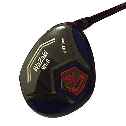 japan-wazaki-wl-iis-black-oil-finish-matrixsteel-hybrid-iron-golf-club-leather-cover21-degree-regula