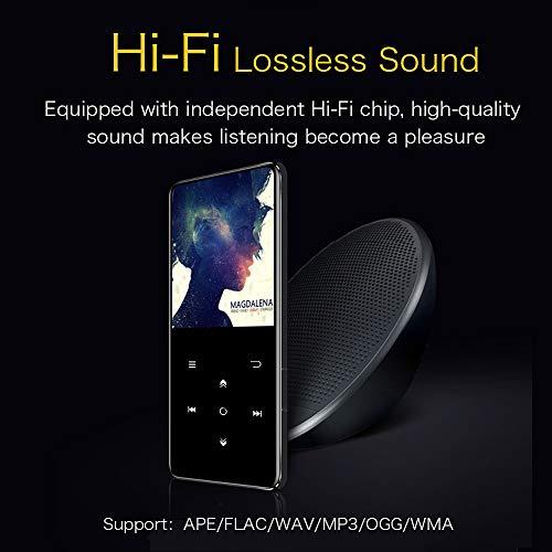 Mibao Lettore MP3 Bluetooth, MP3 Lostless Music Player 16GB con 2.4' TFT Display a Colori, Pulsante di Tocco, con Radio FM/Registratore Vocale/Immagine/E-book, Supporto Espandibile Max Fino a 64GB - 4
