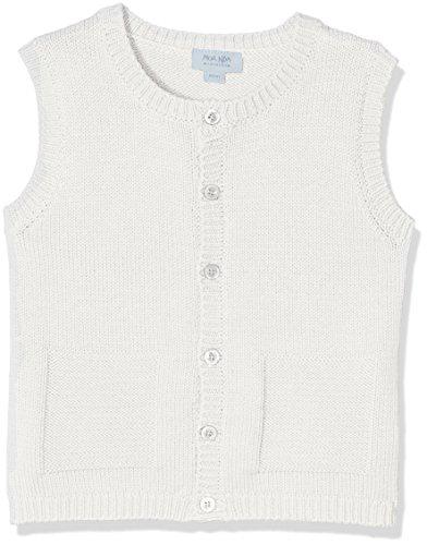 NOA NOA MINIATURE Baby-Jungen Weste Boy Basic Organic Knit Elfenbein (Chalk 2), 86 (Herstellergröße: 18M) (Weste Elfenbein)