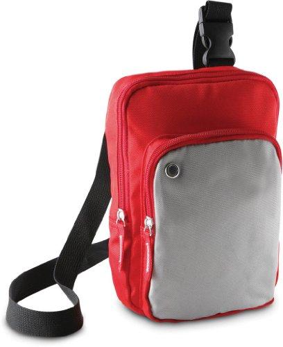 Borsa a tracolla in colori a contrasto Kimood Mini Ki0301 Multicolore (Red/Light Grey)