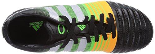 adidas Performance Nitrocharge 3 0 Ag, Chaussures de football mixte enfant Noir (Black 1/Metallic Silver/Neon Orange)