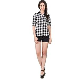 DAMEN MODE Women's Cotton Checkered Shirt 2