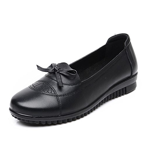 grande taille chaussures asakuchi mère/Chaussures plates avec doux vieillard/Chaussures de mamie/Chaussures de femmes d'âge mûr A