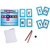 Prism Edutives Word Thrill, Word Building, Word Connection With Mathematical Twist Card Game (Blue)