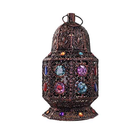 Retro Romantisches Nachtlicht Wind Lampe, Café Tischlampe, Schlafzimmer Dekoration Nachttischlampe (Lichtquelle: E14)