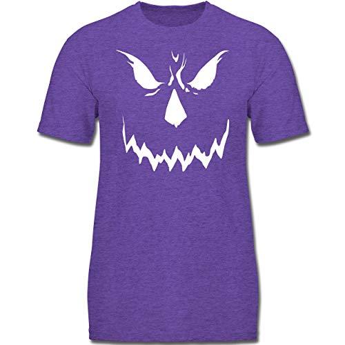 Anlässe Kinder - Scary Smile Halloween Kostüm - 152 (12-13 Jahre) - Lila Meliert - F130K - Jungen Kinder T-Shirt