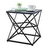 Folding table NAN Quadratischer Metalldraht Kleine Nachttisch, einfacher Couchtisch, 45 * 45 * 50cm (Farbe : B)