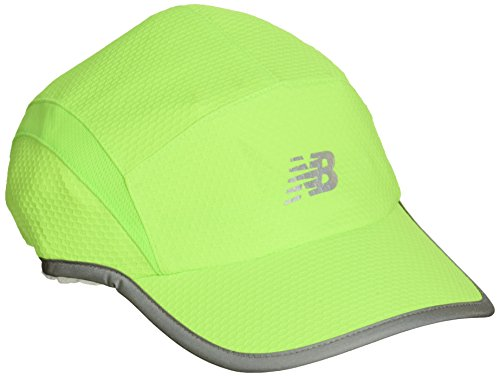 New Balance 5 Panel Performance Hat, Unisex, Energy Lime