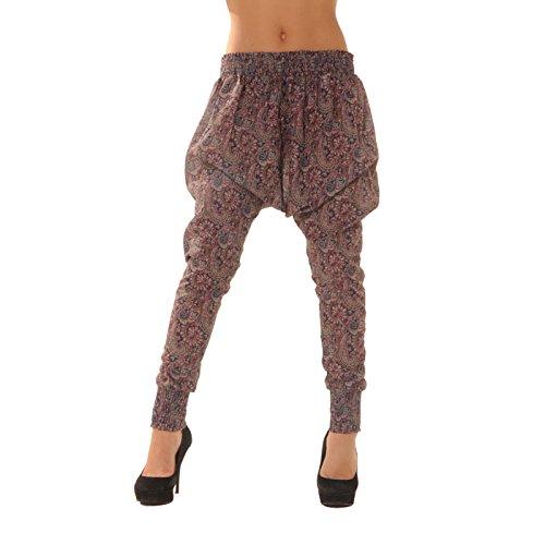 Miss Wear Line -  Pantaloni  - Donna viola (Pantaloni Misses Lino)