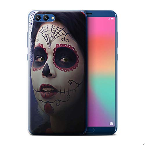 (Stuff4® Hülle/Case für Huawei Honor View 10 / Halloween Bilden Muster/Tag Der Toten Festival Kollektion)