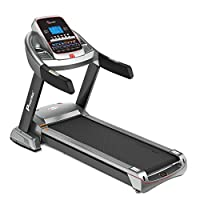 PowerMax Fitness Unisex Adult TAC-510 (4.5 Hp) Semi Commercial Ac Motorized Treadmill With 7.1 Inch Lcd Display - Grey/Black, General-Foldable