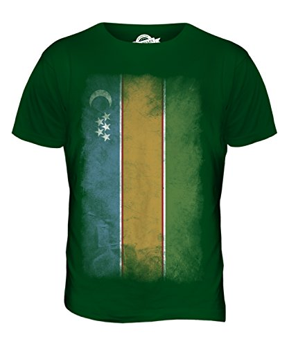 CandyMix Karakalpakistan Verblichen Flagge Herren T Shirt Flaschengrün