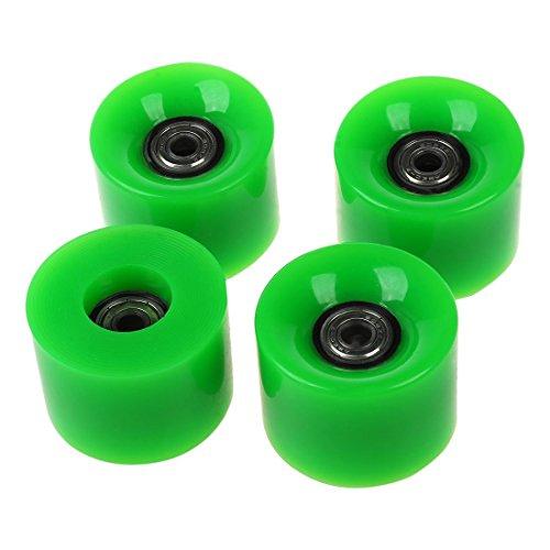 JVSISM Set di 4 Ruote da Skateboard da 6 cm di Diametro e 4,5 cm di Larghezza per Penny Verde