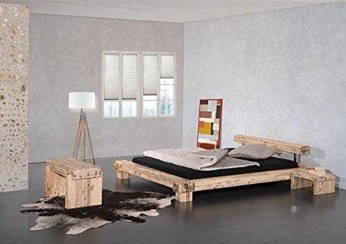 Modular Bett Lota, Akazie massiv, weiss lasiert, 160 x 200 cm