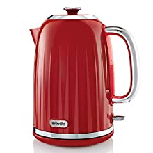 Breville Impressions Electric Kettle, 1.7 Litre, 3 KW Fast Boil, Red [VKJ956]