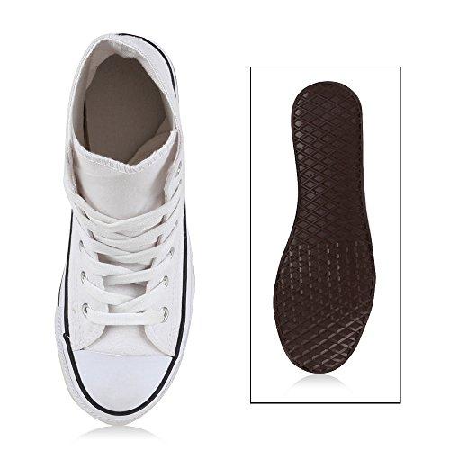 Sneaker Sneakers Damen Sportliche High Neon Weiss Sportschuhe Schwarz Camouflage Schnürer stoffschuhe Xdq5xq