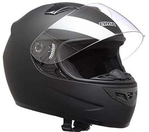 AMX Casco de motocross, color Negro Mate, talla S 55/56 Cm