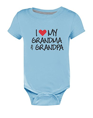 Body de Manga Corta para bebé - Amo a Mi Abuelo y Abuela - Regalo Ori