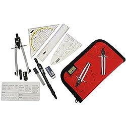 Idena 606220 - Estuche con compás y accesorios (11 piezas)