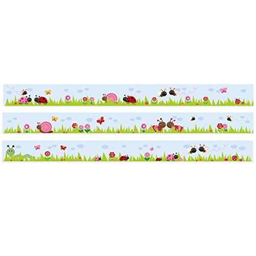 Wähle ein Motiv - Krabbelwelt - 3x selbstklebende Wandbordüren je 150 cm - Gesamtlänge: 450 cm - Höhe: 12,5 cm ()
