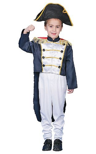 Dress up America Toddler Historical Colonial General Costume Set by Dress Up ()