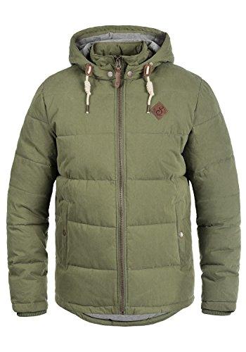 !Solid Dry Herren Jacke Steppjacke Winterjacke gefüttert mit Kapuze, Größe:L, Farbe:Ivy Green (3797)