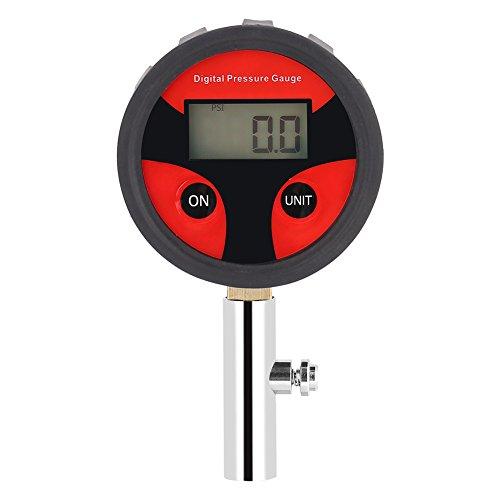 0~200PSI Misuratore di pressione digitale per pneumatici LCD con valvola per pneumatici e tappi Misurazione della pressione dei pneumatici per auto