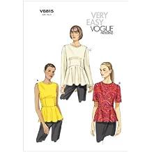 Vogue Patterns V8815 - Patrones de costura para blusas de mujer (tallas 36 a 44