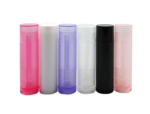10Stück leer 5g 5ml nachfüllbar Kunststoff rund DIY Lippenstift Lip Balm Lip Gloss Tubes Halter Container Crayon ChapStick Rohr Deodorant, Flasche Fall Farbe zufällige