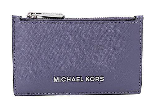 Michael Kors Jet Set Travel Slim Leather Zip Card Case Wallet