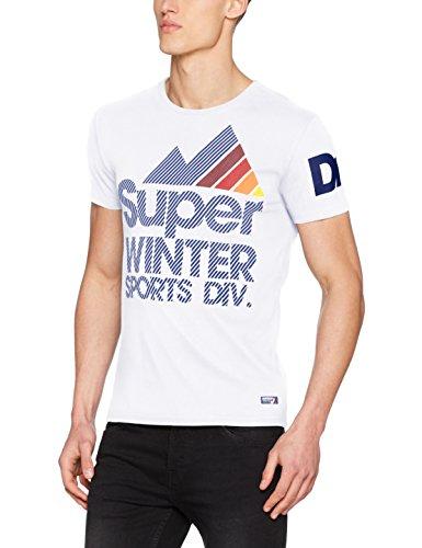 Superdry Herren T-Shirt M10024SP, Bianco (Optic), Large (T-shirts Mens Fashion)