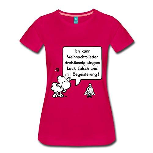 Lamm Dunkler T-shirt (Spreadshirt Sheepworld - Weihnachtslieder Frauen Premium T-Shirt, 3XL, dunkles Pink)