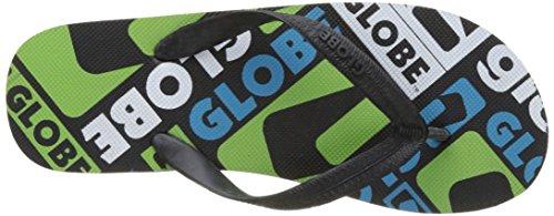 Globe Nimos, Scarpe da Spiaggia e Piscina Uomo Multicolore (Black/cyan/lime)