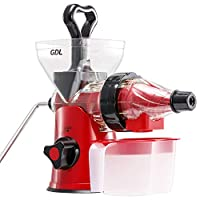 GDL Manual Juicer, Slow Hand Juicer for All Fruits and Vegetables