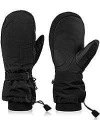 Andake Moufles de Ski Snowboard pour Hommes en Duvet - Gants de Ski - Ski 75485c85f88