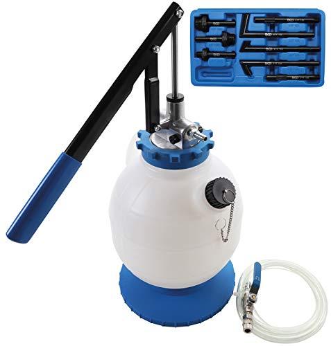 BGS 9992 | Getriebeöl-Befüllgerät mit Handpumpe | mit 8 Adaptern | 7 l | Öleinfüllgerät