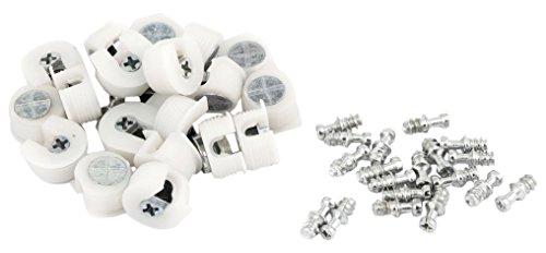 Weißes Regal-unterstützung (20PCS verdeckter MOUNTING BOARD Kunststoff Halterung Regal Unterstützung Weiß)