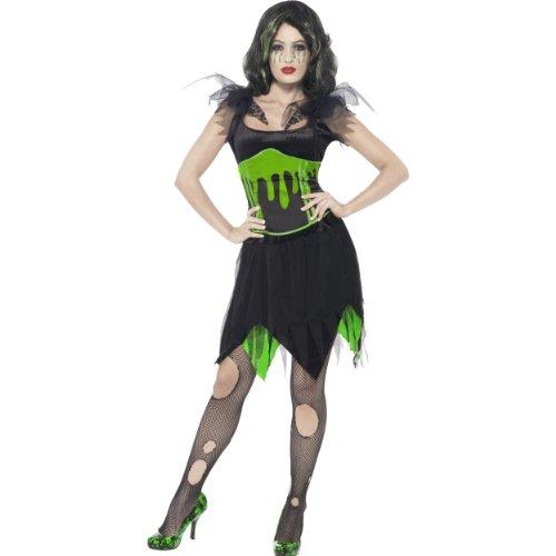 Kostüm Monster Braut - Smiffys Halloween Damen Kostüm Monster Braut Kleid sexy Hexe Größe S