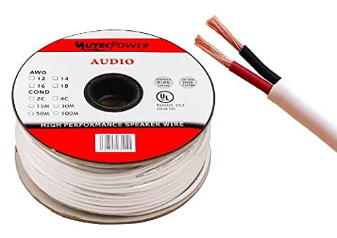 MutecPower -Speaker Wire 2 x 4mm² (12AWG) 30M CL2 Rated