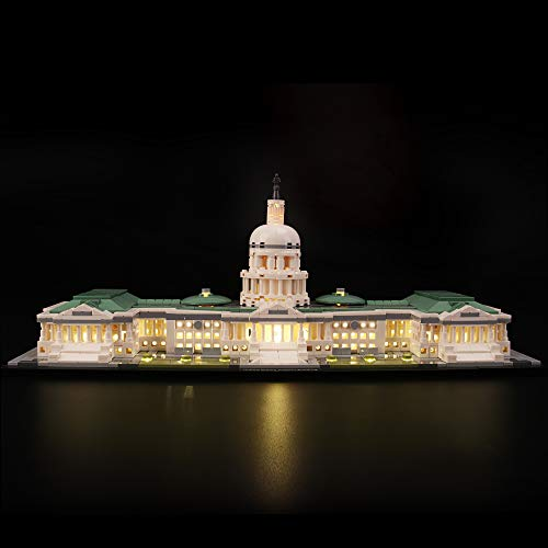 LIGHTAILING Conjunto de Luces (Architecture Edificio del capitolio de Estados Unidos) Modelo de Construcción de Bloques - Kit de luz LED Compatible con Lego 21030(NO Incluido en el Modelo)